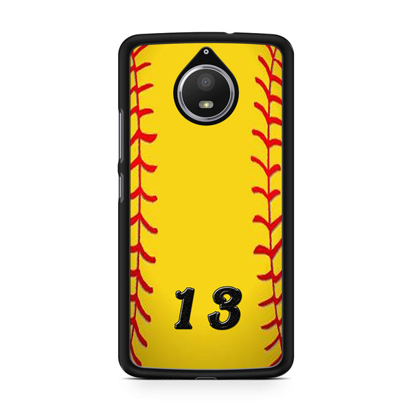 13 Custom Softball Motorola Moto E4 Plus Case