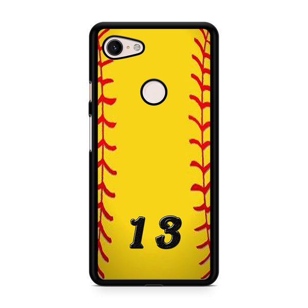 13 Custom Softball Google Pixel 3 Case