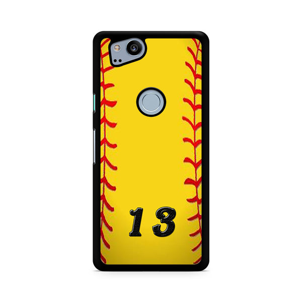 13 Custom Softball Google Pixel 2 Case