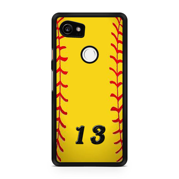 13 Custom Softball Google Pixel 2 XL Case