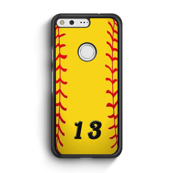 13 Custom Softball Google Pixel XL Case