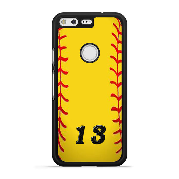 13 Custom Softball Google Pixel Case