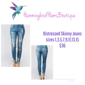 Stretchy Distressed Denim
