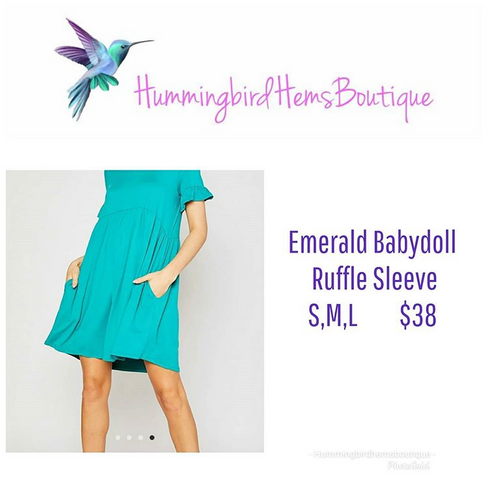 Emerald Baby doll Ruffle Sleeve