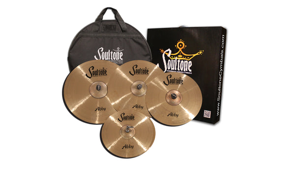 Soultone Abby 20ride,18crash,16crash,14hats cymbal pack