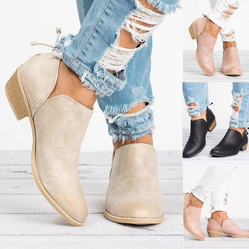 Fashion women s thick ankle boots - SHOEKY 3afca0cca82c