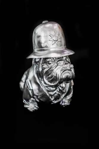 English Bulldog - Policeman Silver Design
