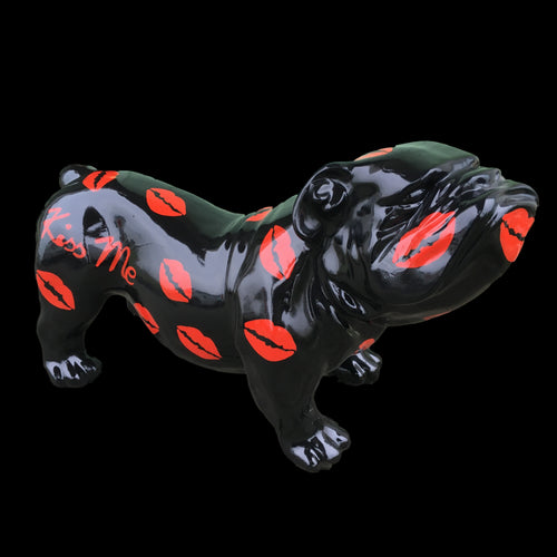 English Bulldog - Black Kisses Design