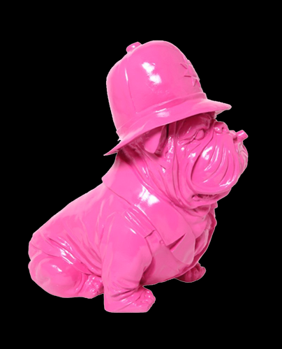 English Bulldog - Policeman Pink Design