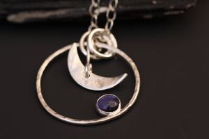 Iolite Moon Necklace and The Tourmaline by ZENPUI