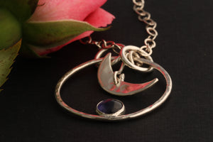 Iolite Moon Necklace and The Rose by ZENPUI