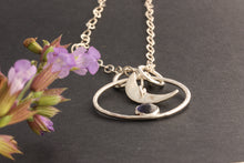 Load image into Gallery viewer, Iolite Moon Necklace and The Flowers by ZENPUI
