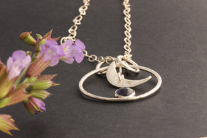 Iolite Moon Necklace and The Flowers by ZENPUI