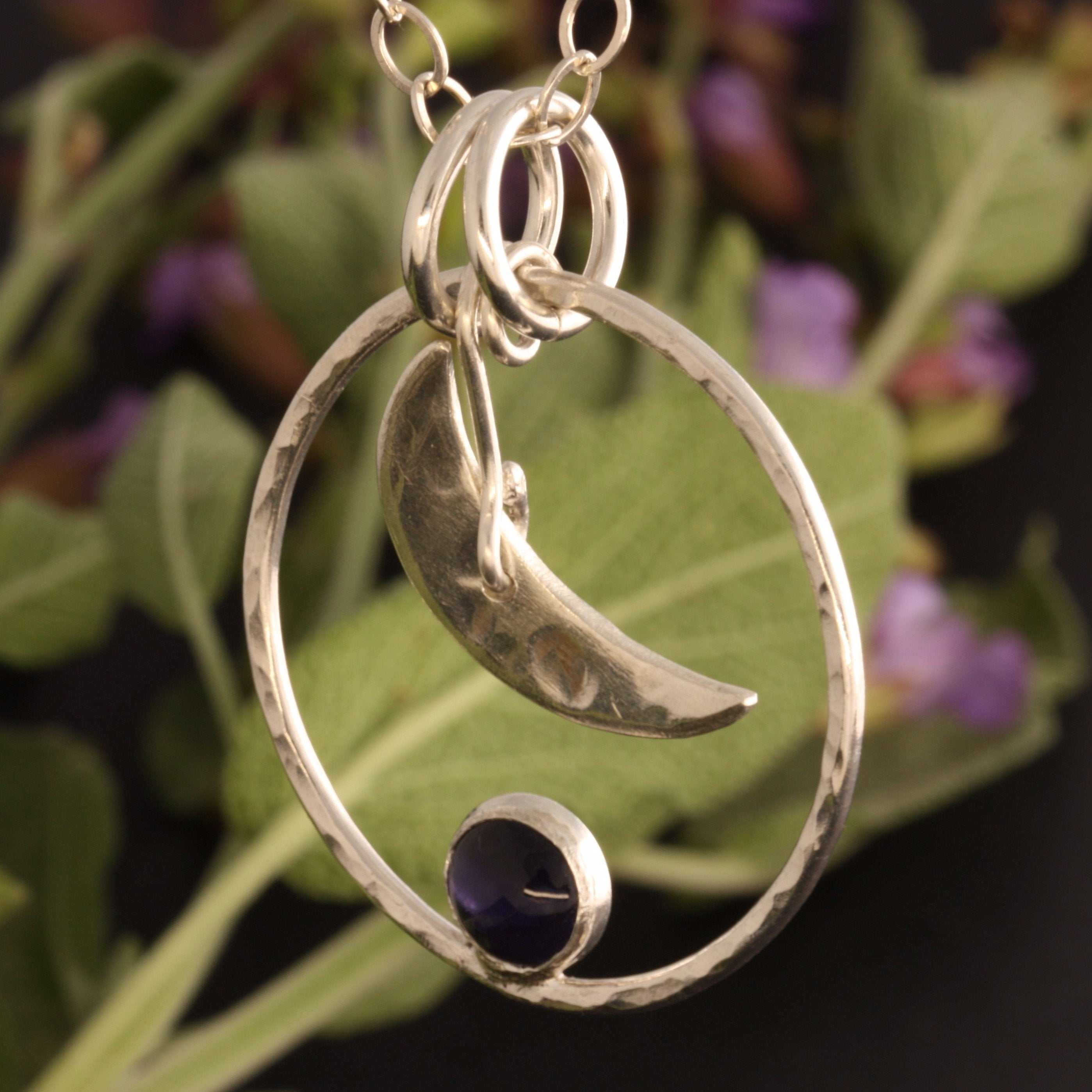 Iolite Moon Necklace and The Sage by ZENPUI