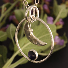 Load image into Gallery viewer, Iolite Moon Necklace and The Sage by ZENPUI