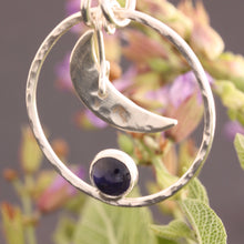 Load image into Gallery viewer, Iolite Moon Necklace by ZENPUI