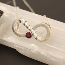 Load image into Gallery viewer, Infinity Garnet Necklace