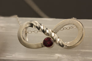 Infinity Garnet Necklace