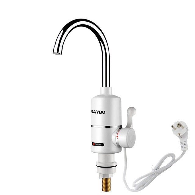 220V  Instant Hot Water Tap Tankless Electric Faucet Kitchen Instant Hot Faucet Water Heater Water Heating Digital Display - PanasiaMarine.Com