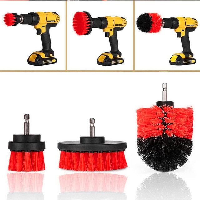 3pcs/Set Drill Scrubber Brush Car Kit Detailing Tile Grout Car Boat RV Tub Cleaner Scrubber Cleaning Tool Brushes Cleaning Kit - PanasiaMarine.Com
