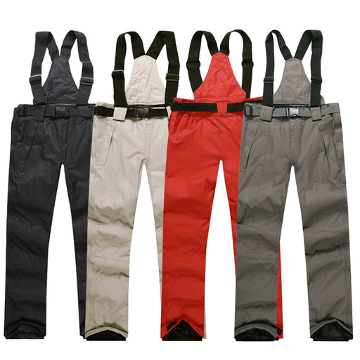 Men's Skiing Pants Brands New Warm Outdoor Sports Waterproof Thinken Women's Snow Trousers Suspenders Winter Snowboard Pants Men - PanasiaMarine.Com