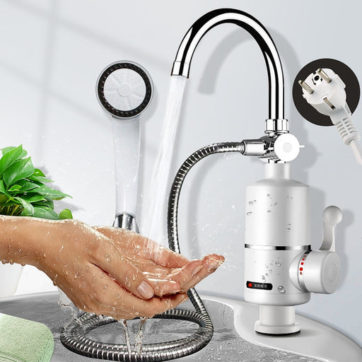 3000W Instant Hot Water Tap Tankless Electric Faucet Kitchen Instant Hot Faucet Water Heater Water Heating Digital Display 220V - PanasiaMarine.Com