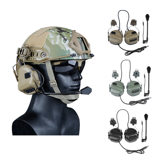 2019 Newest Tactical Headsets with Fast Helmet Rail Adapter Military Airsoft Shooting Headset Army Communication Accessories - PanasiaMarine.Com