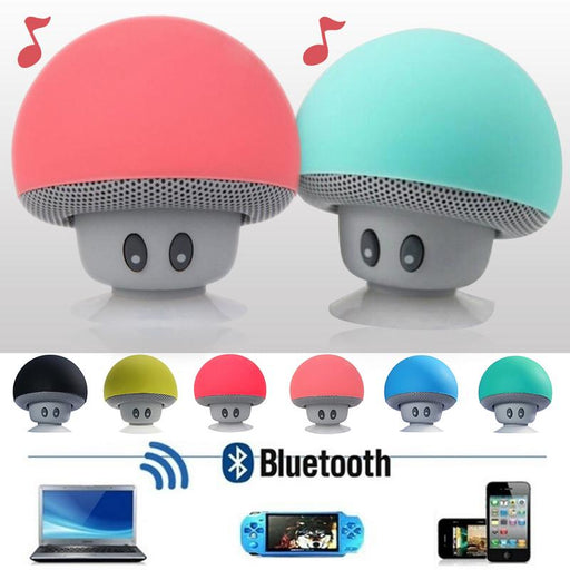 Fashionable Cartoon Mushroom Hairstyle Bluetooth Speakers Waterproof Wireless Mini Home Outdoor Subwoofer Speaker Gift - PanasiaMarine.Com