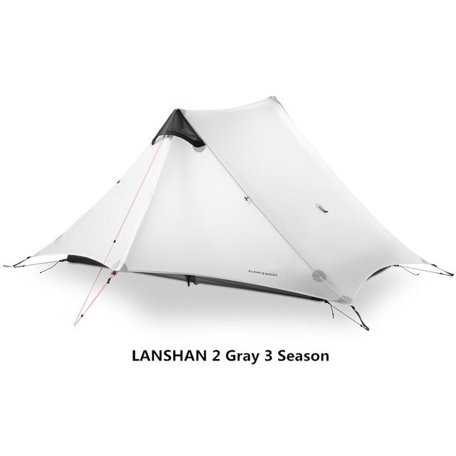 2019 LanShan 2 FLAME'S CREED 2 Person Outdoor Ultralight Camping Tent 3 Season Professional 15D Silnylon Rodless Tent - PanasiaMarine.Com