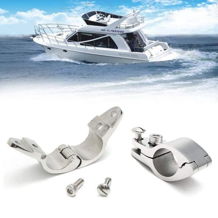 Audew 22/25mm Fitting Boat Bimini Top Hinged Jaw Slide Marine Hardware 316 Stainless Steel With 2 Screws Easy Install - PanasiaMarine.Com