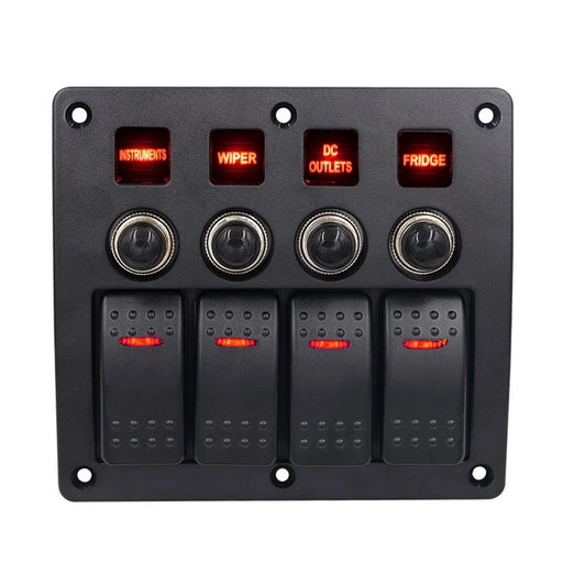 Waterproof Auto Boat Marine LED Rocker Switch Panel Circuit Breakers - PanasiaMarine.Com