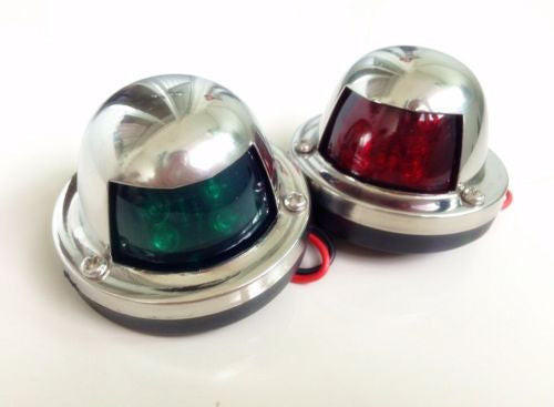Stainless Steel Bow Navigation Lights