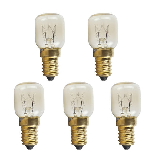 5 PCS T25 E14 25W Microwave Oven Bulb High Temperature Resistant 300 Celsius  Small Screw Light Bulb - PanasiaMarine.Com