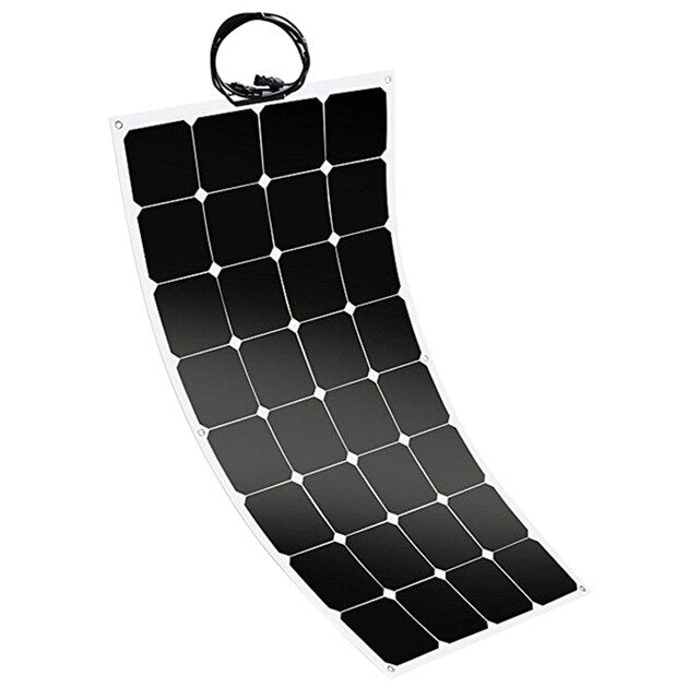 100W 12V Flexible Sunpower Solar Panel Battery Charger For Car Rv Marine Boat - PanasiaMarine.Com