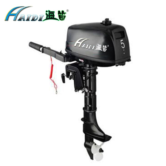 HaiDi 2 stroke 5 hp short shaft outboard motor with Hand startover  Marine Engine boat kayak - PanasiaMarine.Com