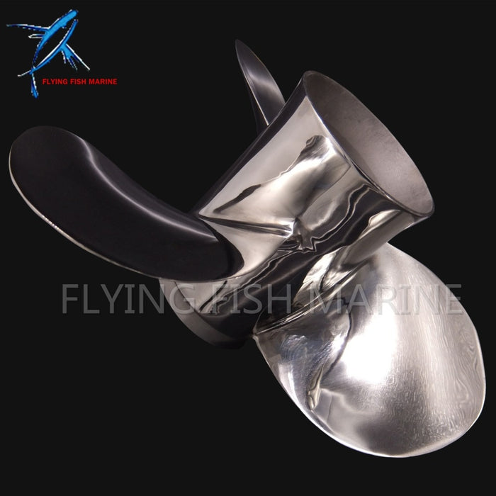 Stainless Steel Propeller 11 3/8x12-G Boat Engine For Yamaha 40HP 50HP Outboard Motor 11 3/8 x 12 -G 13 splines - PanasiaMarine.Com