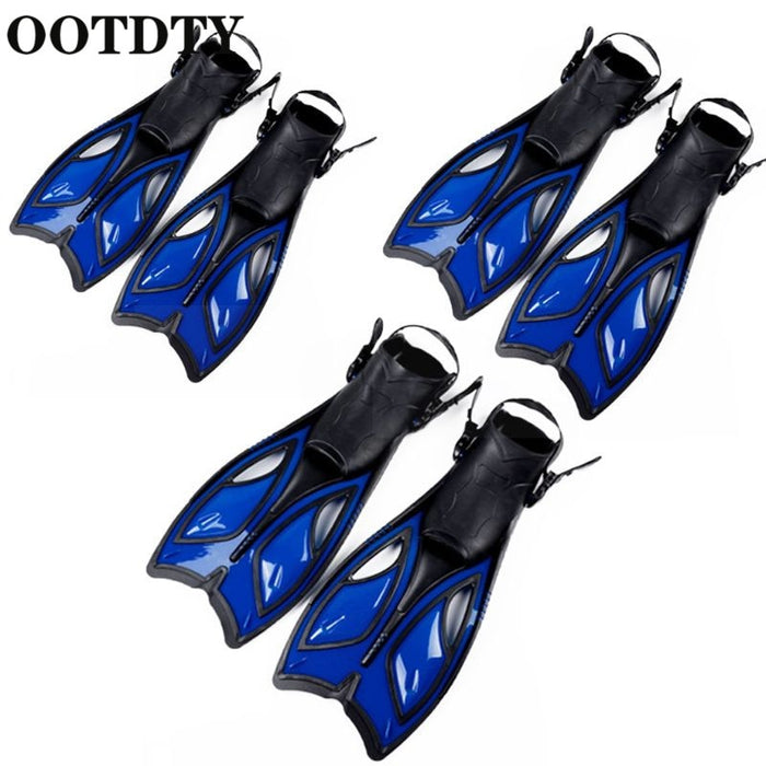 OOTDTY Unisex Frog Snorkeling Adjustable Ankle Long Hydrofoil Guiding Swimming Flippers  Swimming Flippers - PanasiaMarine.Com