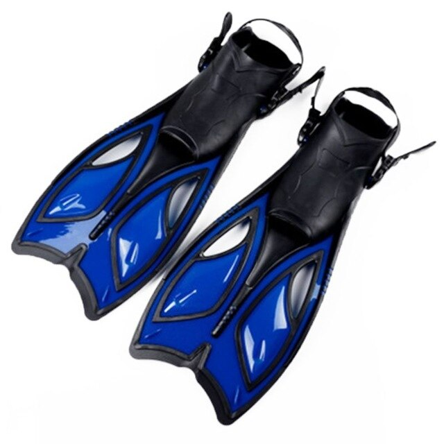 Unisex Frog Snorkeling Adjustable Ankle Long Hydrofoil Guiding Swimming Flippers New - PanasiaMarine.Com