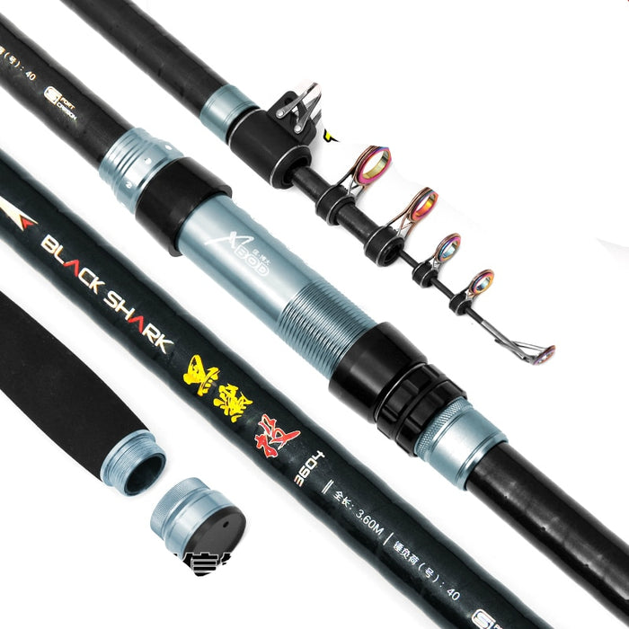 Carbon Fiber Distance Throwing Rod Fishing Rod long section super hard rod fishing pole 3.6/3.9/4.2/4.5/5.4m Fishing Tackle - PanasiaMarine.Com