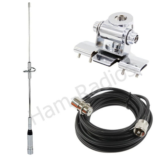 YiniTone Nagoya NL-770S Dual Band Antenna+RB-400 Antenna Mount+RG-58U 5M Coaxial Cable Walkie Talkie For Mobile Car CB Radio TYT - PanasiaMarine.Com