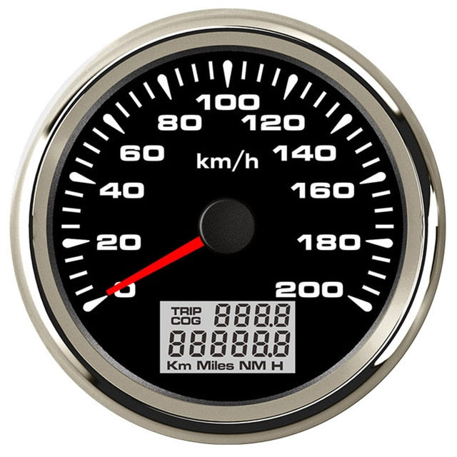 New 85mm GPS Speedometer 200kmh Speed Gauge Odometer ATV UTV Motorcycle Marine Boat Buggy Golf Go Cart 12V/24V - PanasiaMarine.Com