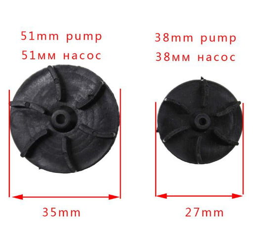 1PC 51mm /38mm Repair Part Plastic 6 Fan Blades Electric Water Fuel Pump Rotor Impeller - PanasiaMarine.Com