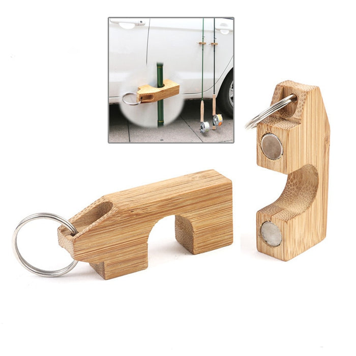 Mini Fishing Rods Holder Magnetic Wooden Rack Guard Rod Bracket Shelf For Fishing Pole Display Transport System Attaches To Car - PanasiaMarine.Com