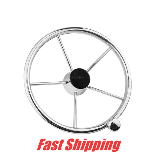 316 Stainless Steel Yacht steering wheel 25 Degree with Knob Speedboat boat Hydraulic steering system Alternate steering wheel - PanasiaMarine.Com