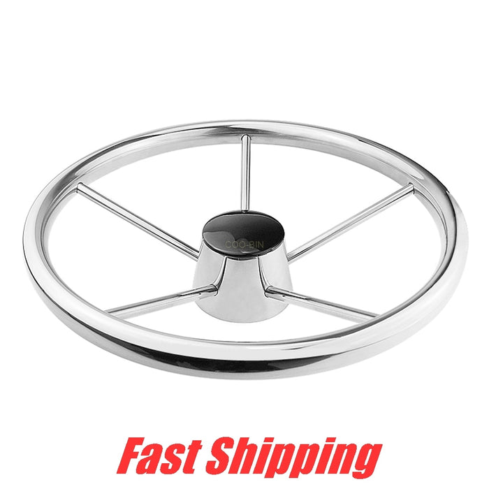 316 Stainless Steel Marine 25 Degree with Knob Alternate steering wheel for Yacht Speedboat boat Hydraulic steering system - PanasiaMarine.Com