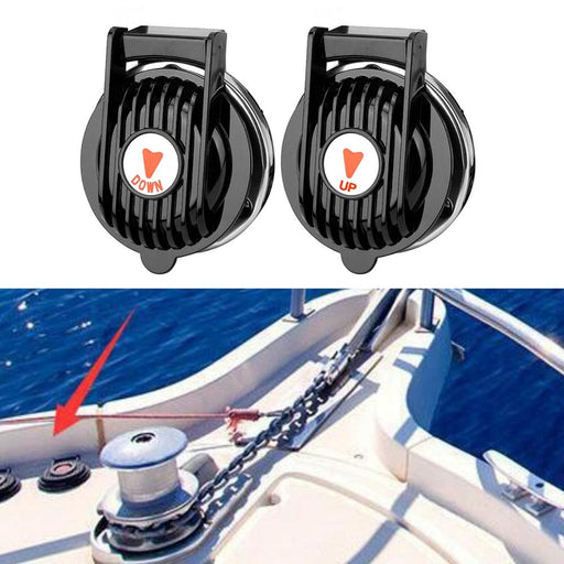 1 Pair anchor winch Contains 1 up and 1 down for Boat Marine Windlass Foot Switch 12V or 24V Black ABS Approx 3 inch Accessories - PanasiaMarine.Com
