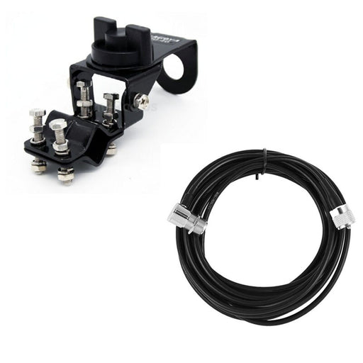 Nagoya RB-46 Antenna Mount Bracket Clip with 5M Feeder Extension Cable For Mobile Car Vehicle QYT BAOJIE TYT Radio Accessories - PanasiaMarine.Com
