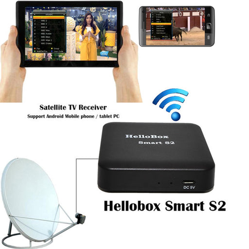 Hellobox Smart S2 Satellite Finder Satfinder Digital Bluetooth Support TV Play On Mobile Phone/Tablet TV Receiver DVB Player - PanasiaMarine.Com