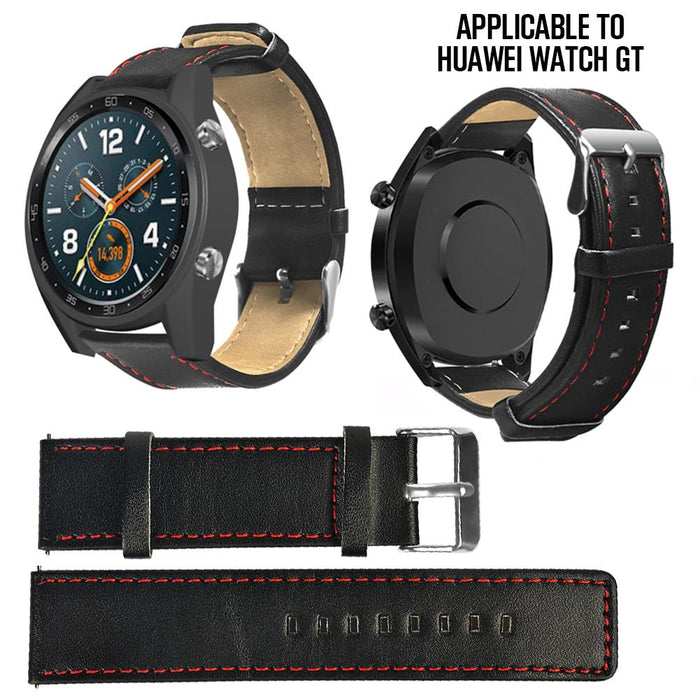 New Leather Smart Strap 22mm Single-Sided Durable Band Genuine Leather Strap For Huawei GT Watches - PanasiaMarine.Com