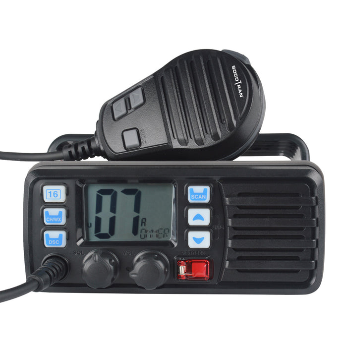 25W High Power VHF Marine Band Walkie talkie Mobile Boat Radio Waterproof 2 Way Radio mobile transceiver RS-507M - PanasiaMarine.Com